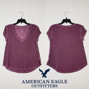 American Eagle Favorite Purple Tee Women's, Medium